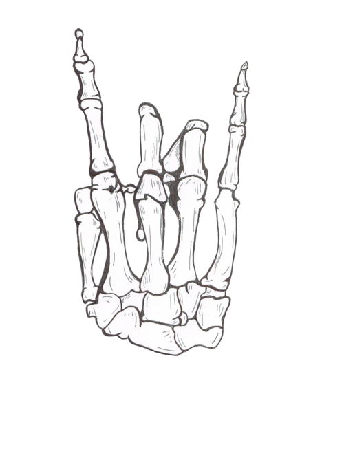 Hand clipart feminine. Drawing cool rock awesome