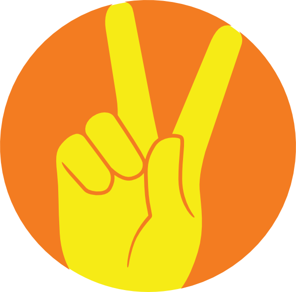 Hand clipart peace. Sign clip art at