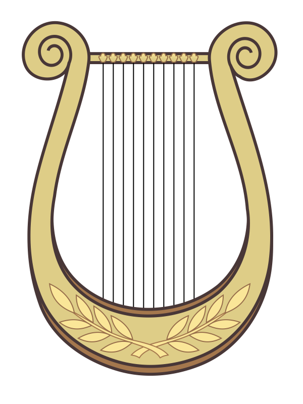 Ourclipart pin . Hand clipart harp