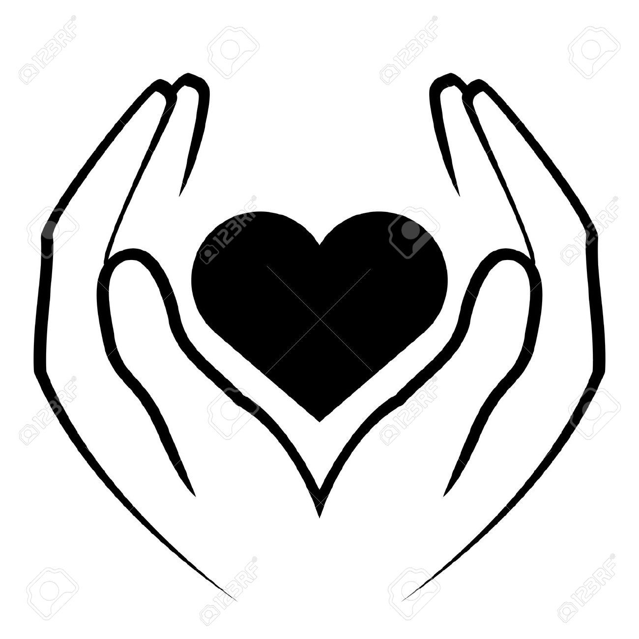 Heart things of interest. Hand clipart hand holding