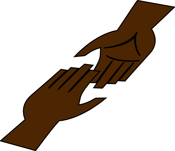 Hands clipart helping hand. Clip art at clker