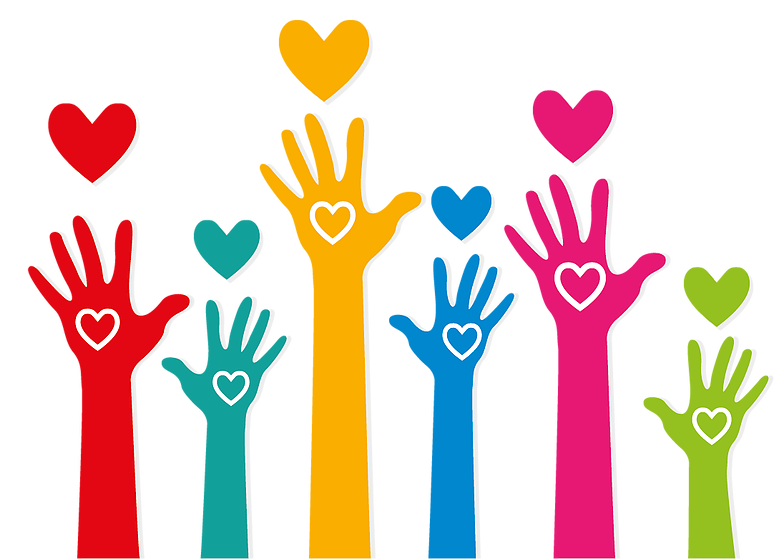 Loveseednonprofit helping hands. Poverty clipart illustration