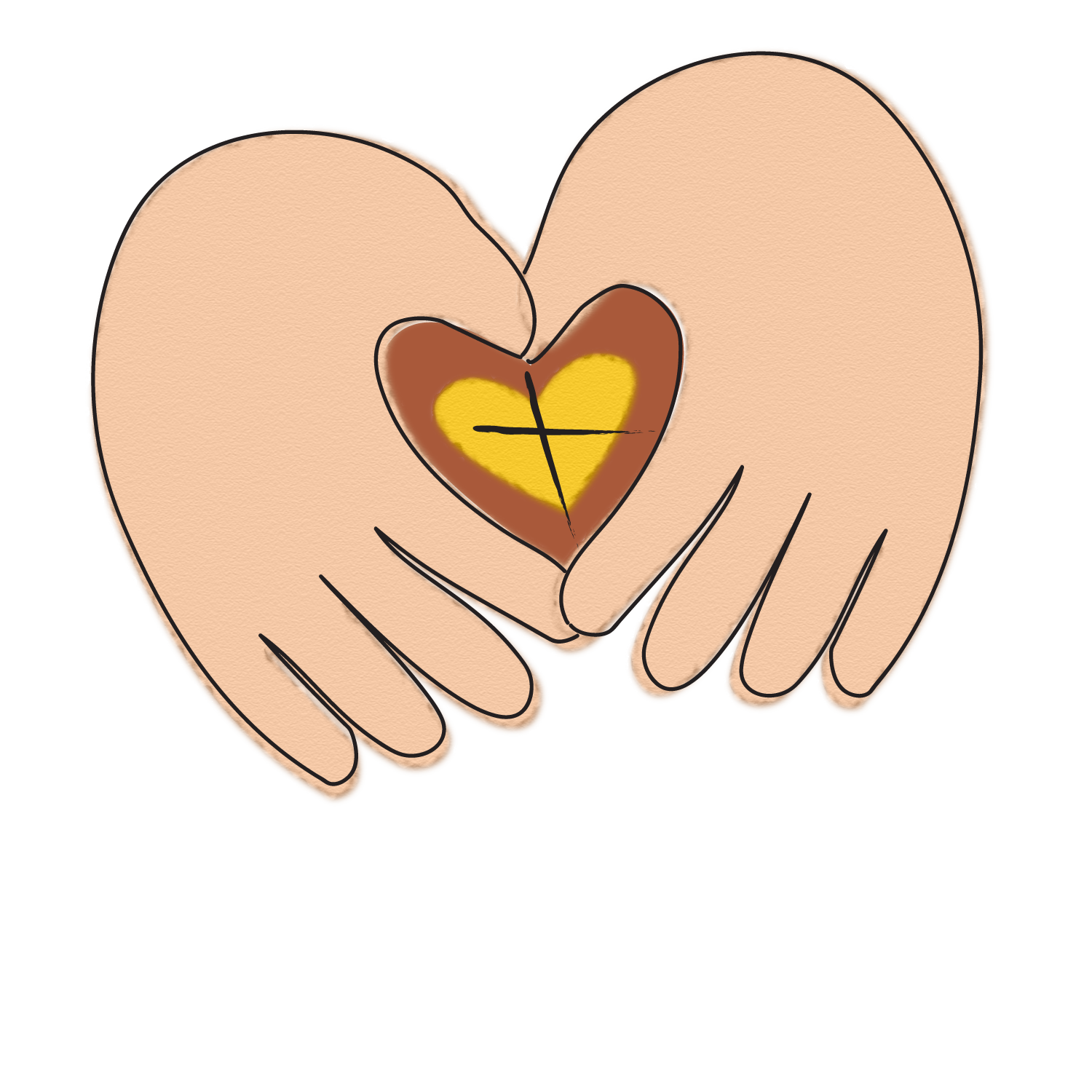 Philosophy of care gospel. Hands clipart helping hand