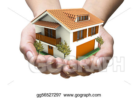 Drawing in gg gograph. Hands clipart house