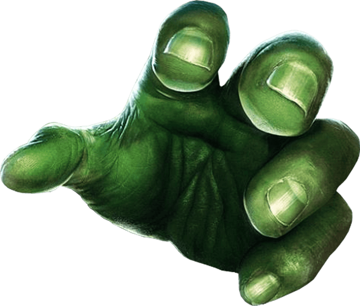 Hand png . Clipart hands incredible hulk