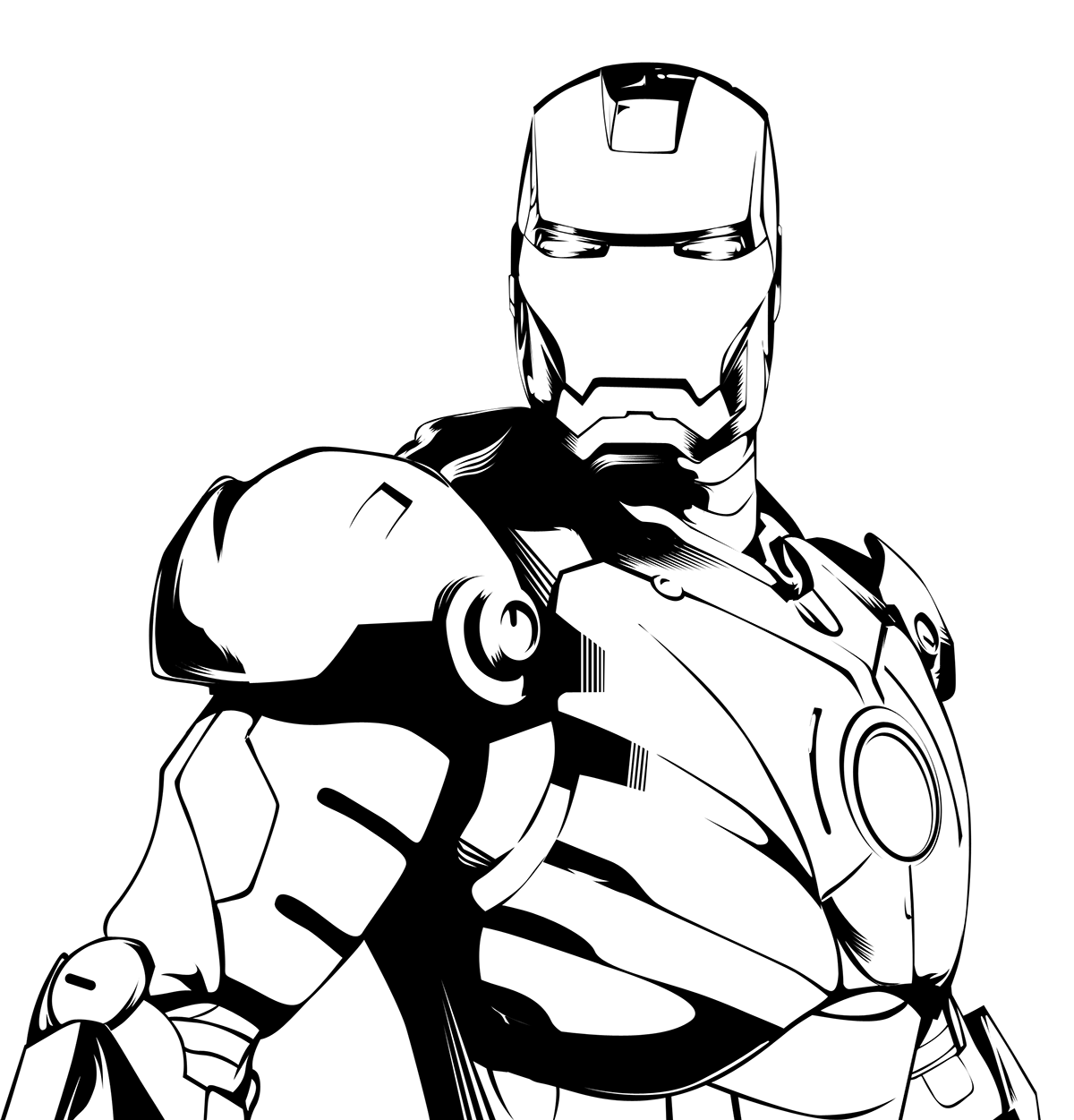Iron man black and. Hands clipart ironman