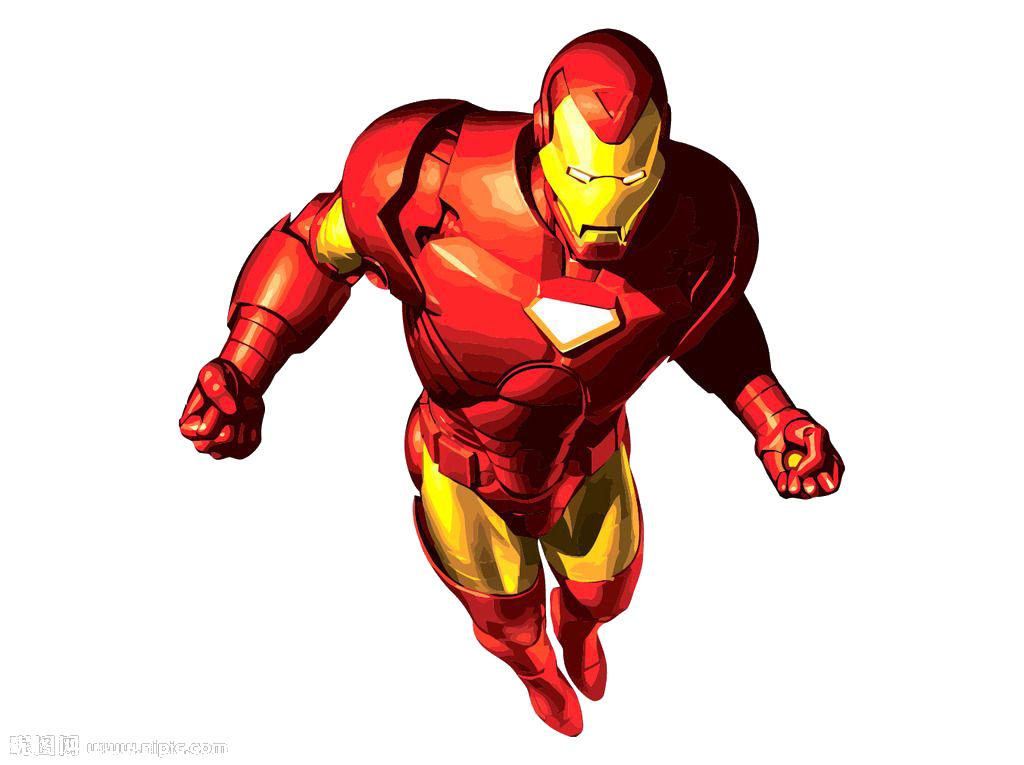 Iron man cartoon superhero. Hands clipart ironman