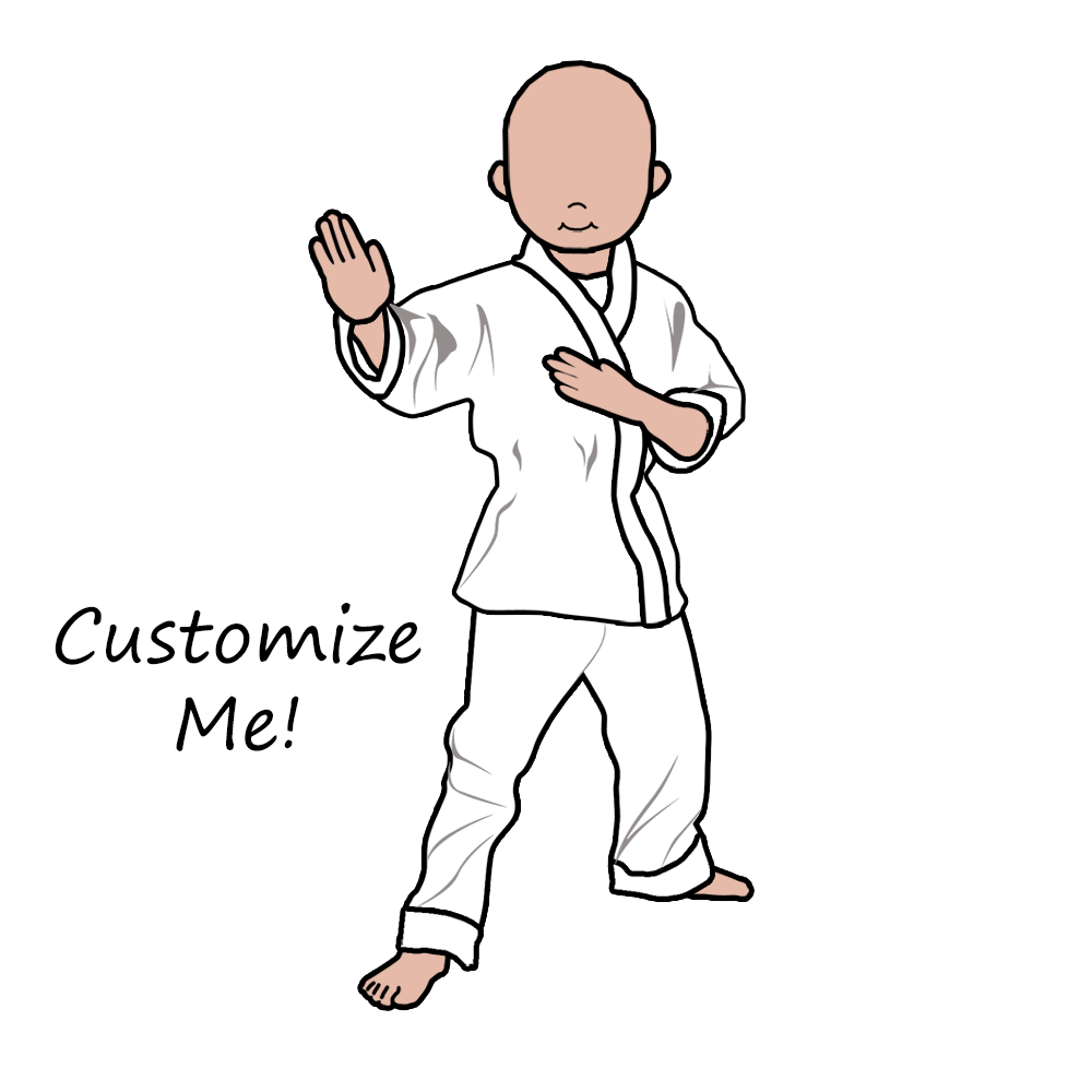 Skin clipart blank body. Martial arts or karate