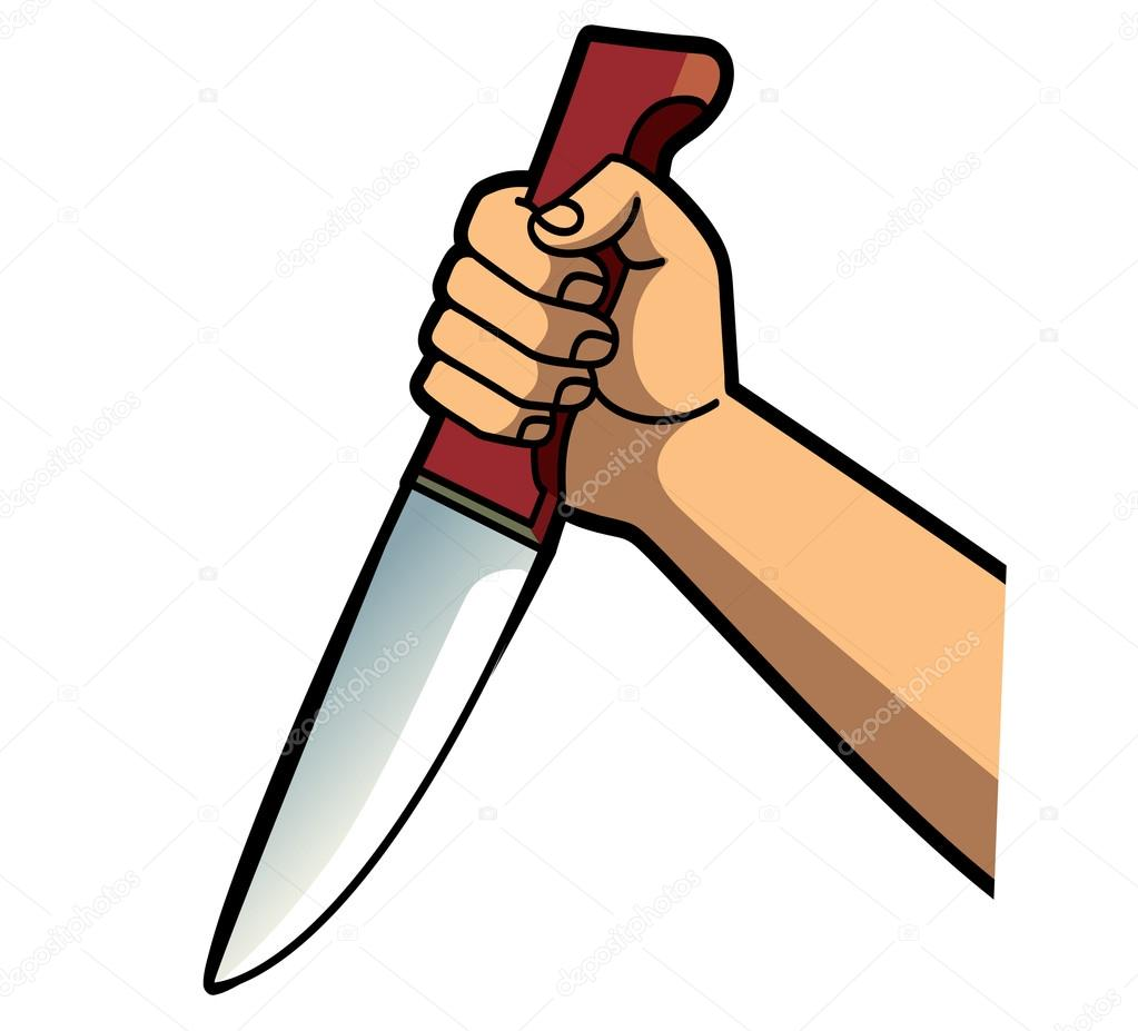 Holding portal . Knife clipart hand