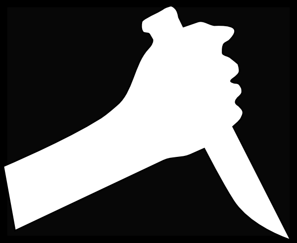 Knife clipart hand. White clip art at