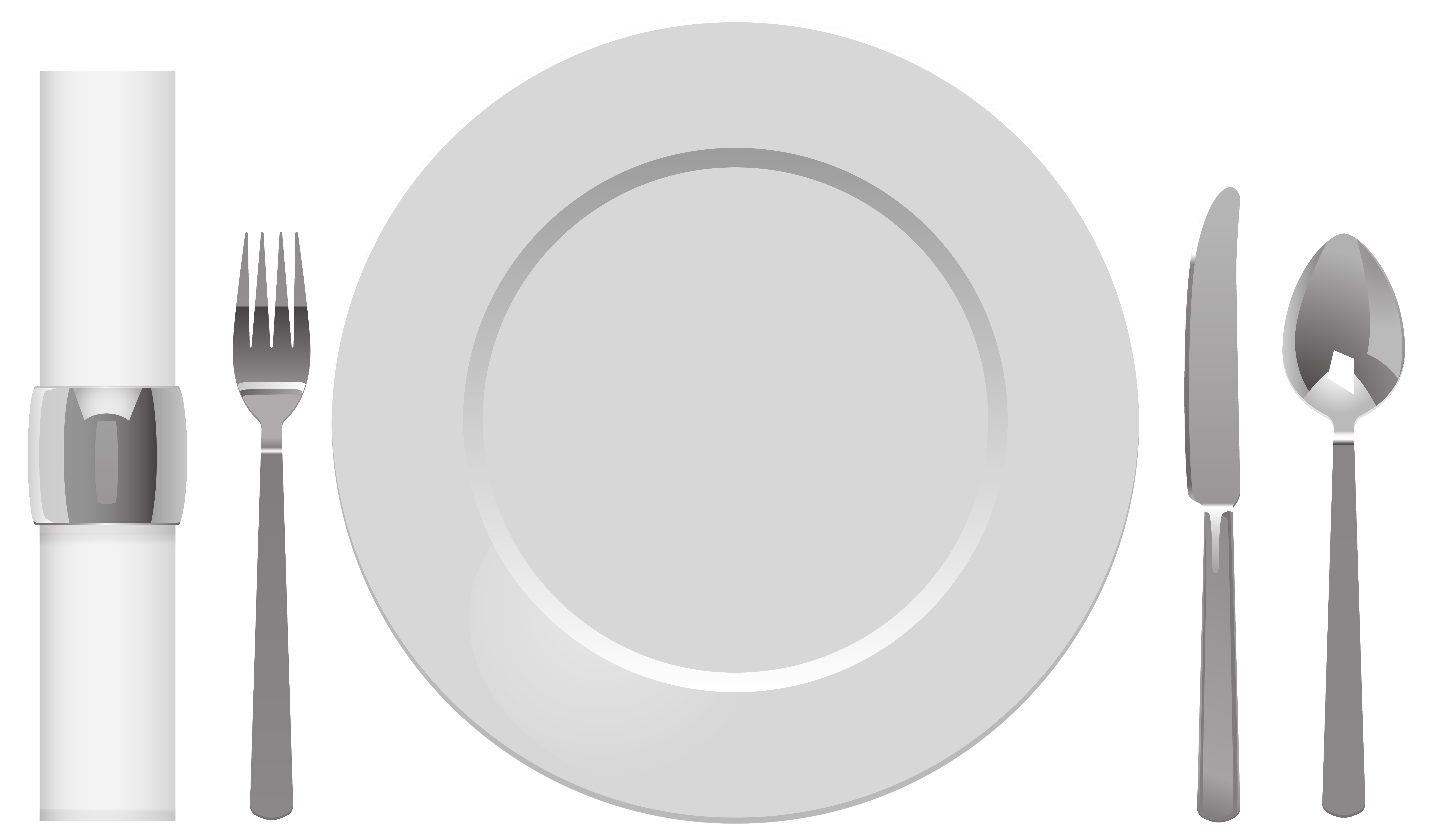 Plate spoon table fork. Hands clipart knife