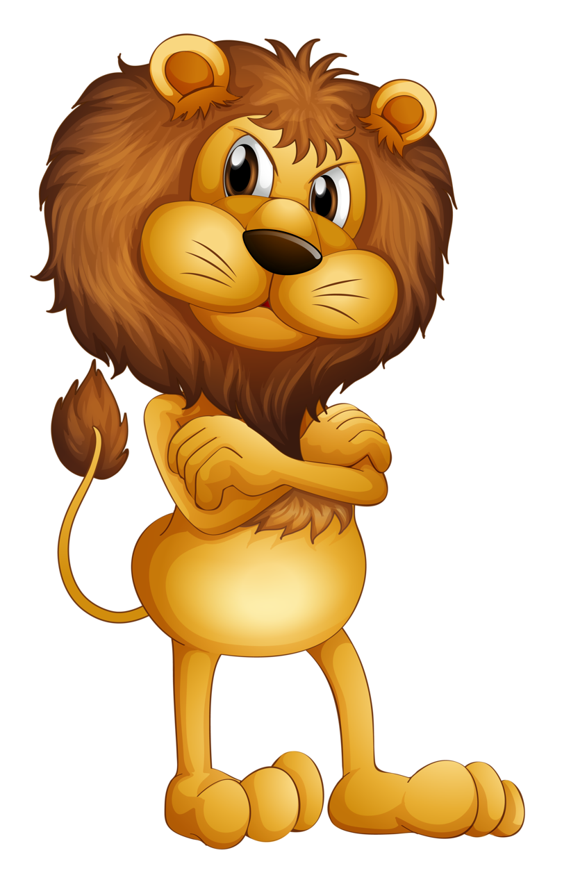 Terrestrial animal stock photography. Hand clipart lion