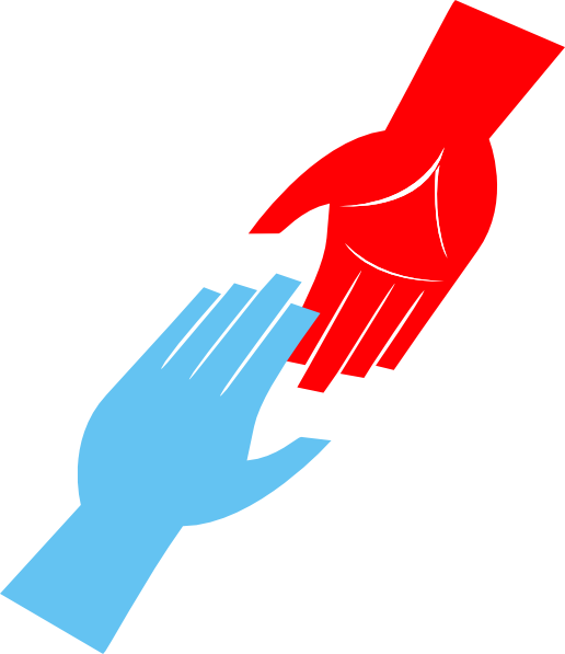 Reaching hands . Missions clipart vission