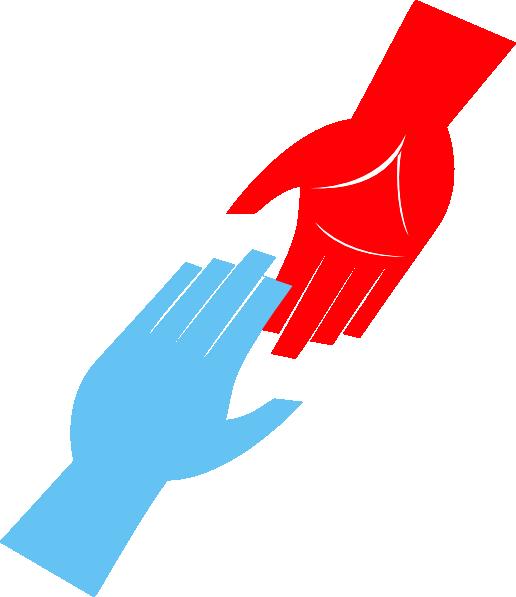 Handshake clipart helping hand. Reaching hands
