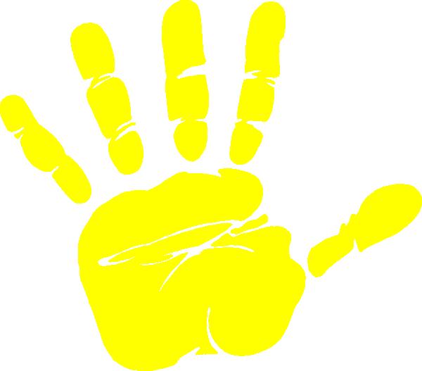 handprint clipart lime green