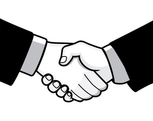 Clipart hands meet. Shake hand logo images