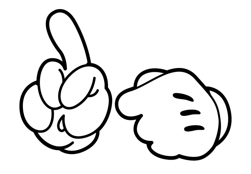 Mouse hand png free. Mickey clipart drawing