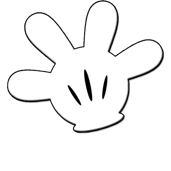 Mickey mouse pants outline. Number 1 clipart hand
