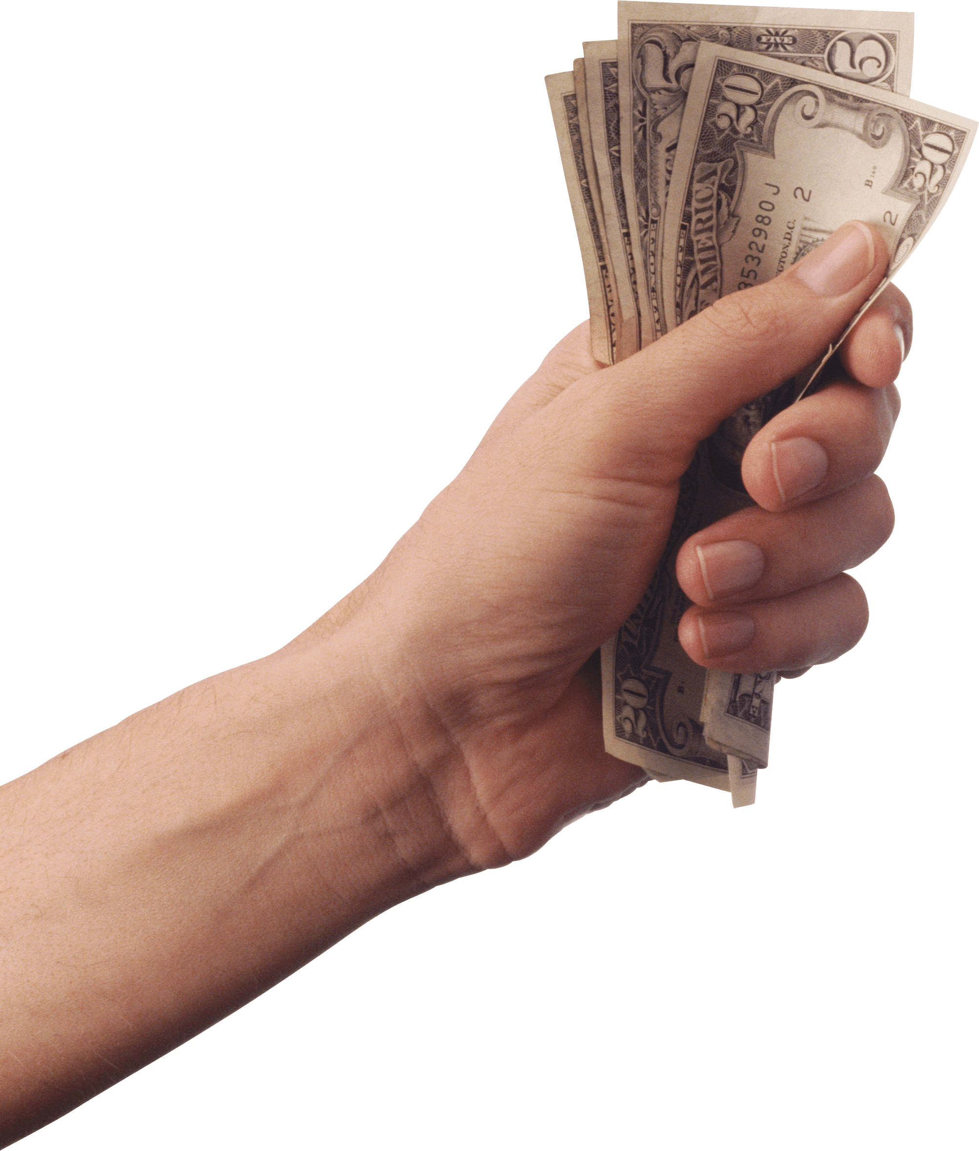 Holding cash transparent stickpng. Hand with money png