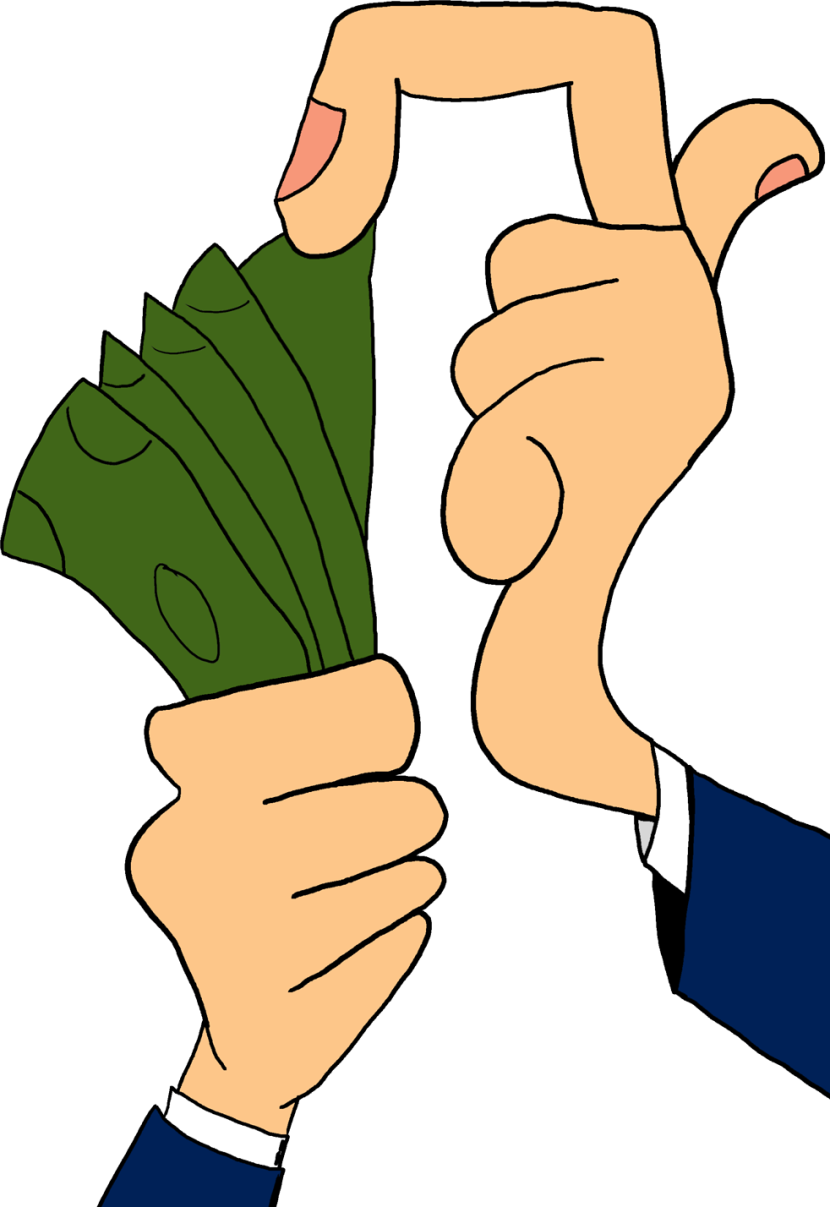 collection of person. Hand clipart money
