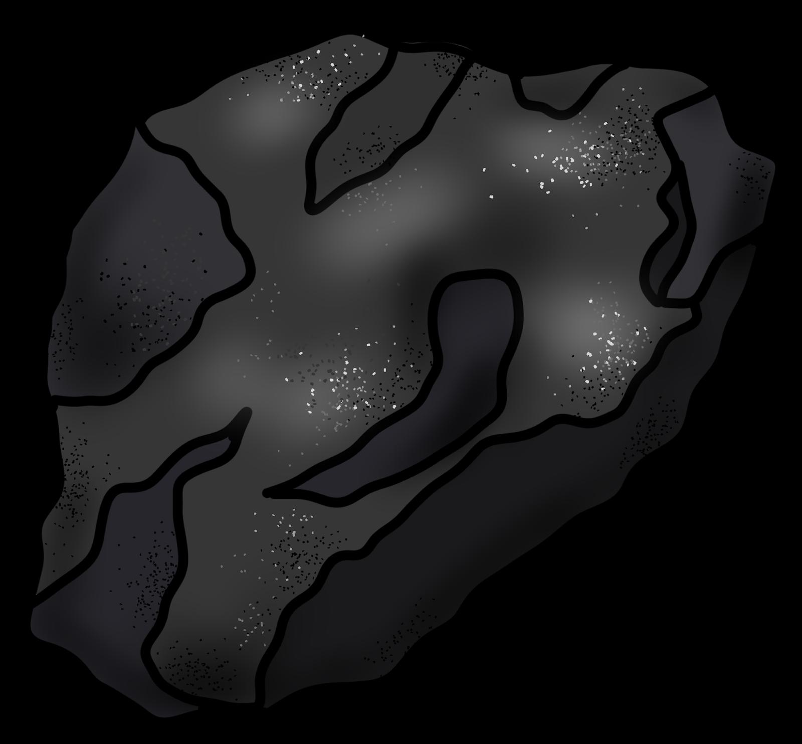 Dot clipart period mark. A lump of coal