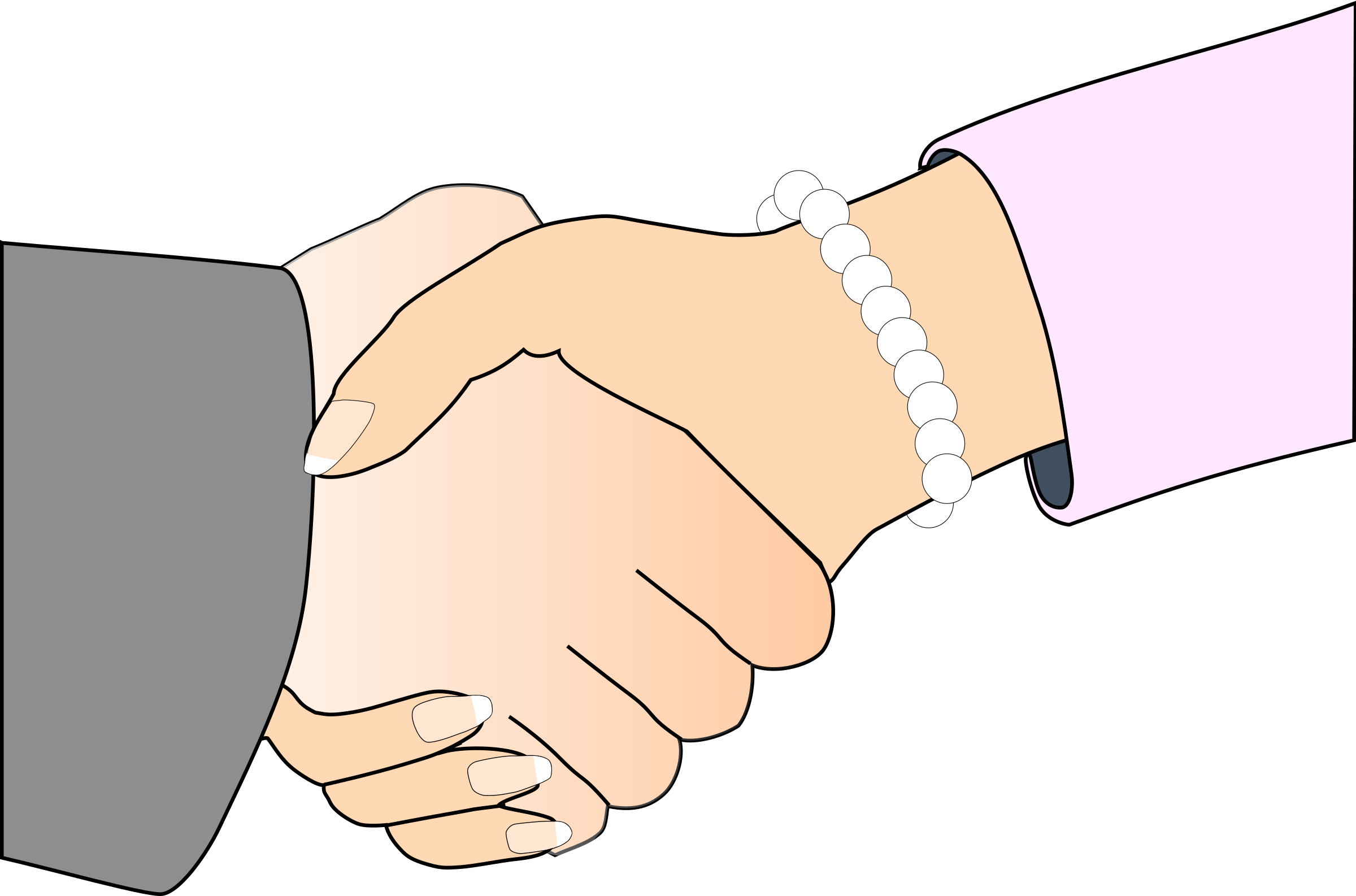 Handshake clipart artistic. Of outline man and