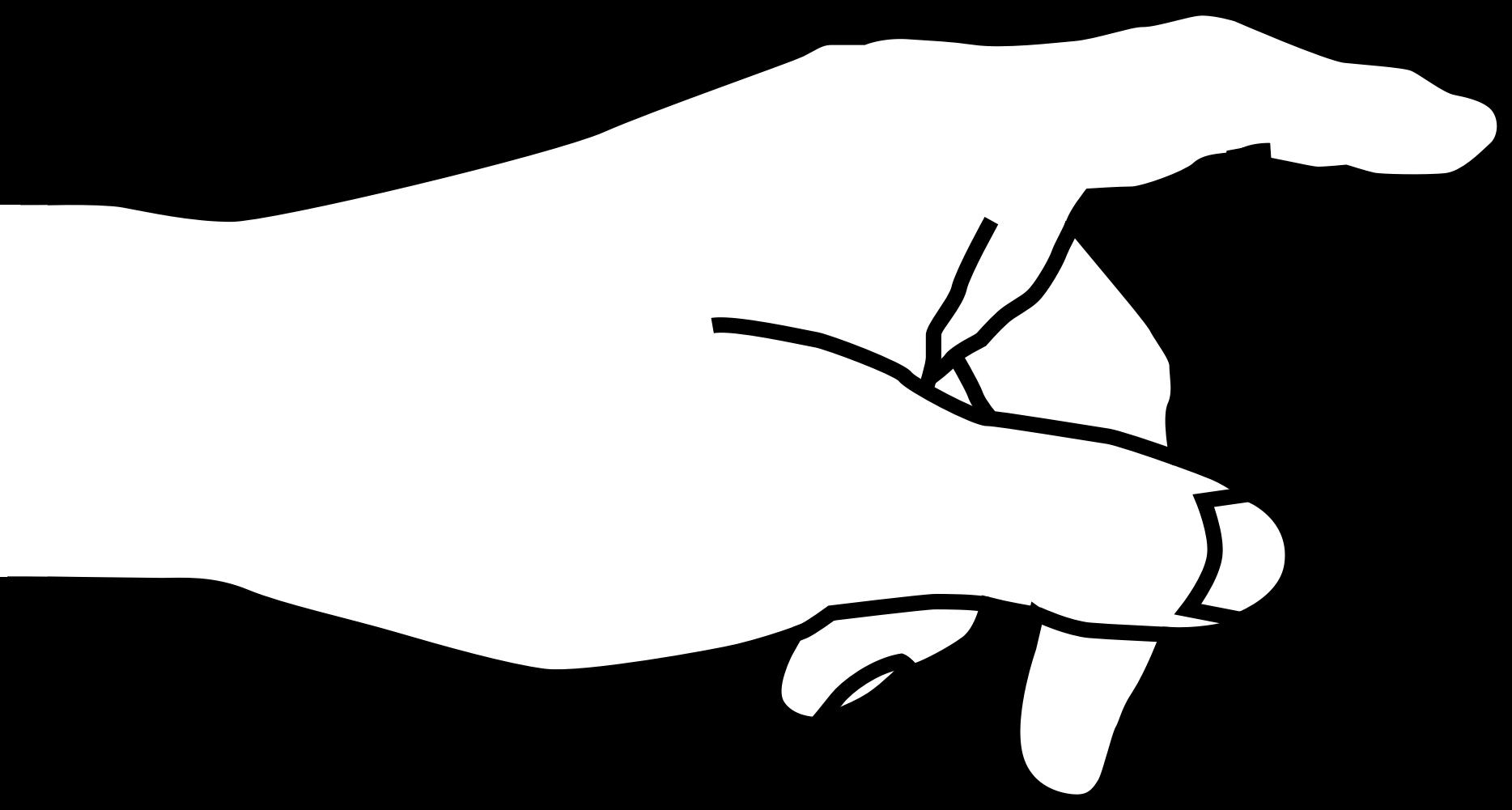 Handprint clipart printable. Finger hand outline pencil