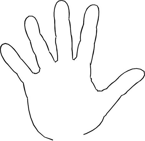 Free of hand download. Hands clipart outline