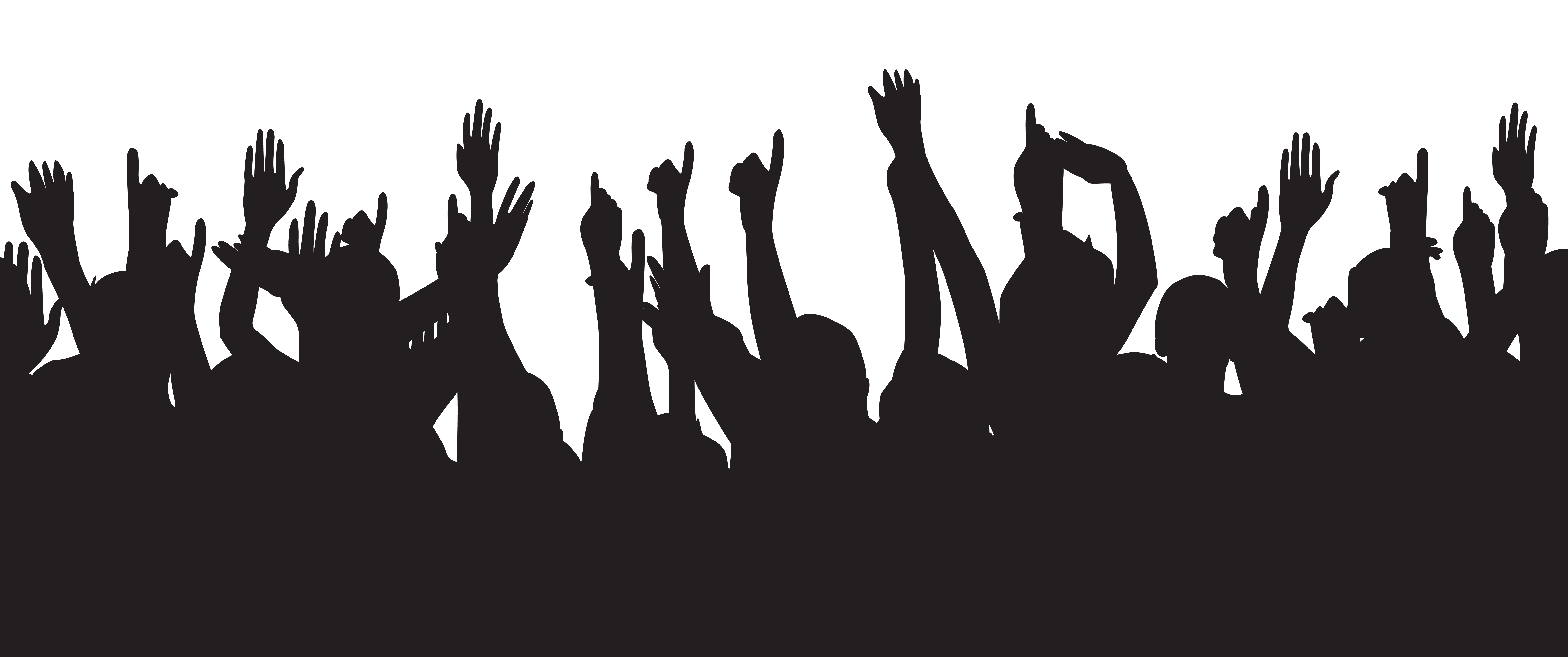 Party clipart silhouette.  collection of people