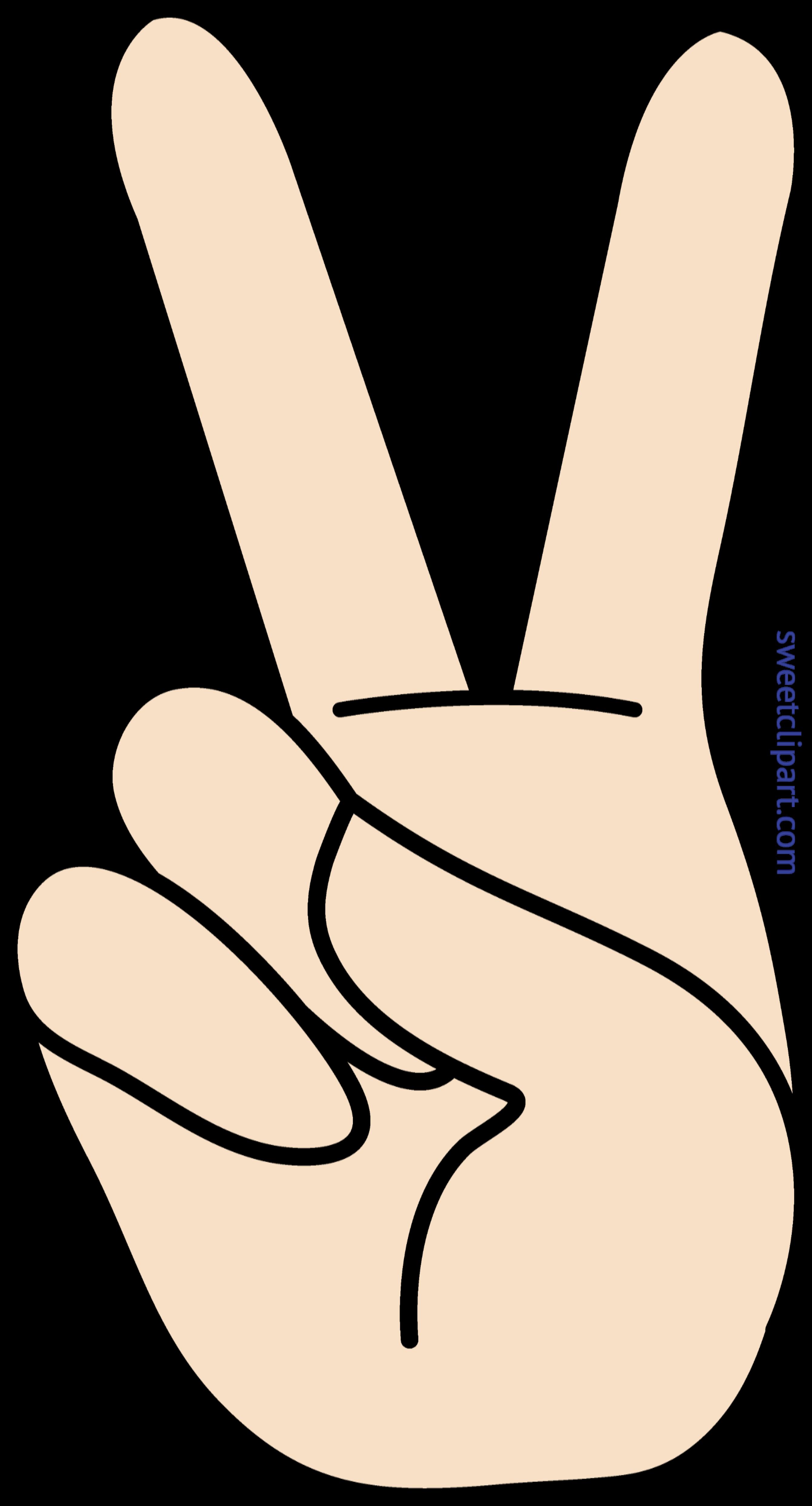 Honesty clipart peace. Hand sign clip art