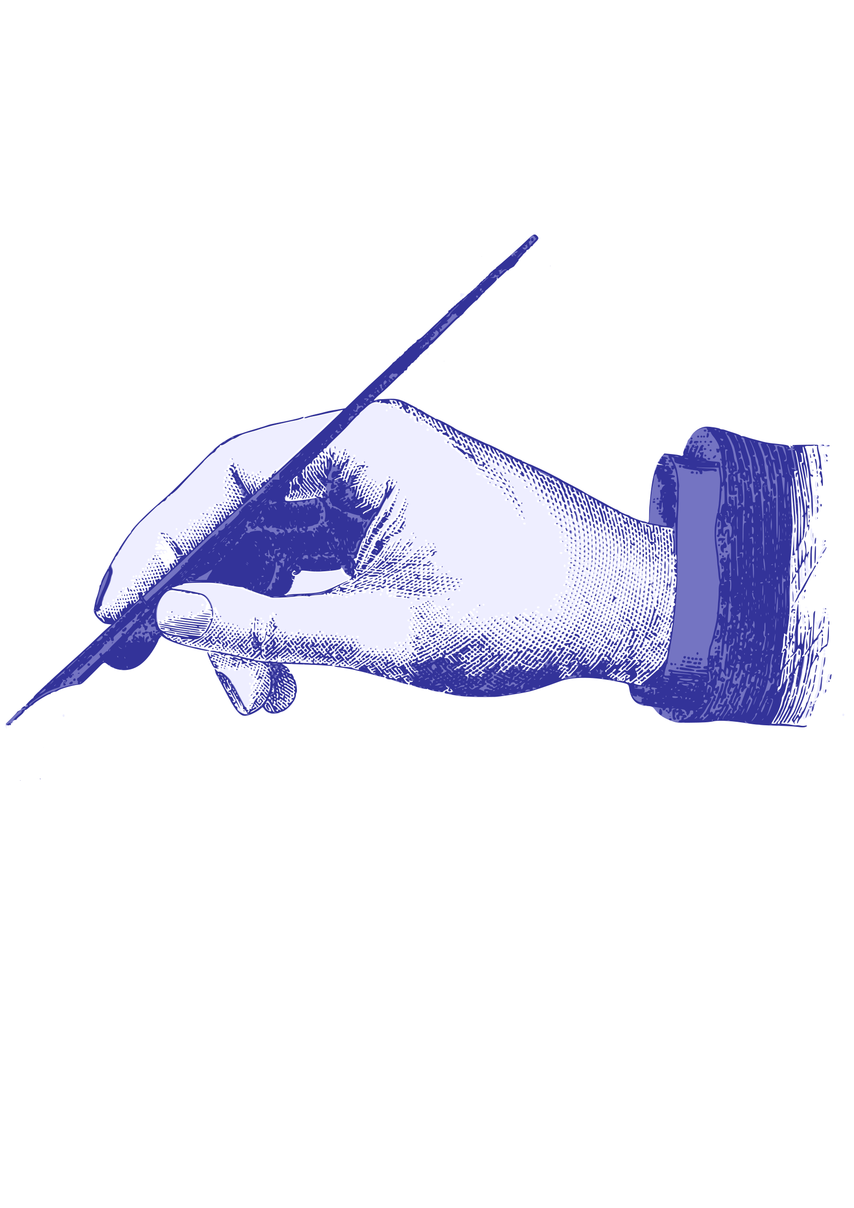 Clipart hands vintage. Hand and ink pen