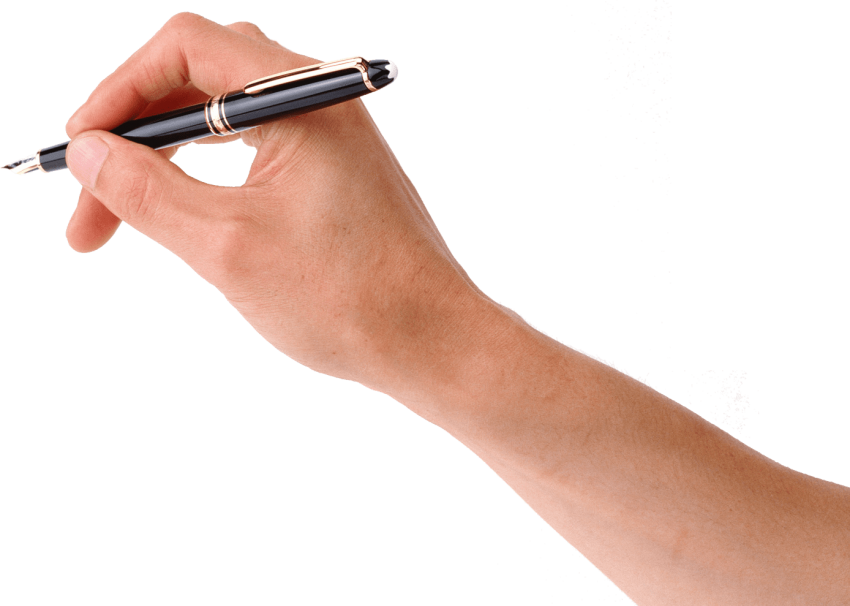 Hand clipart pen. On png free images