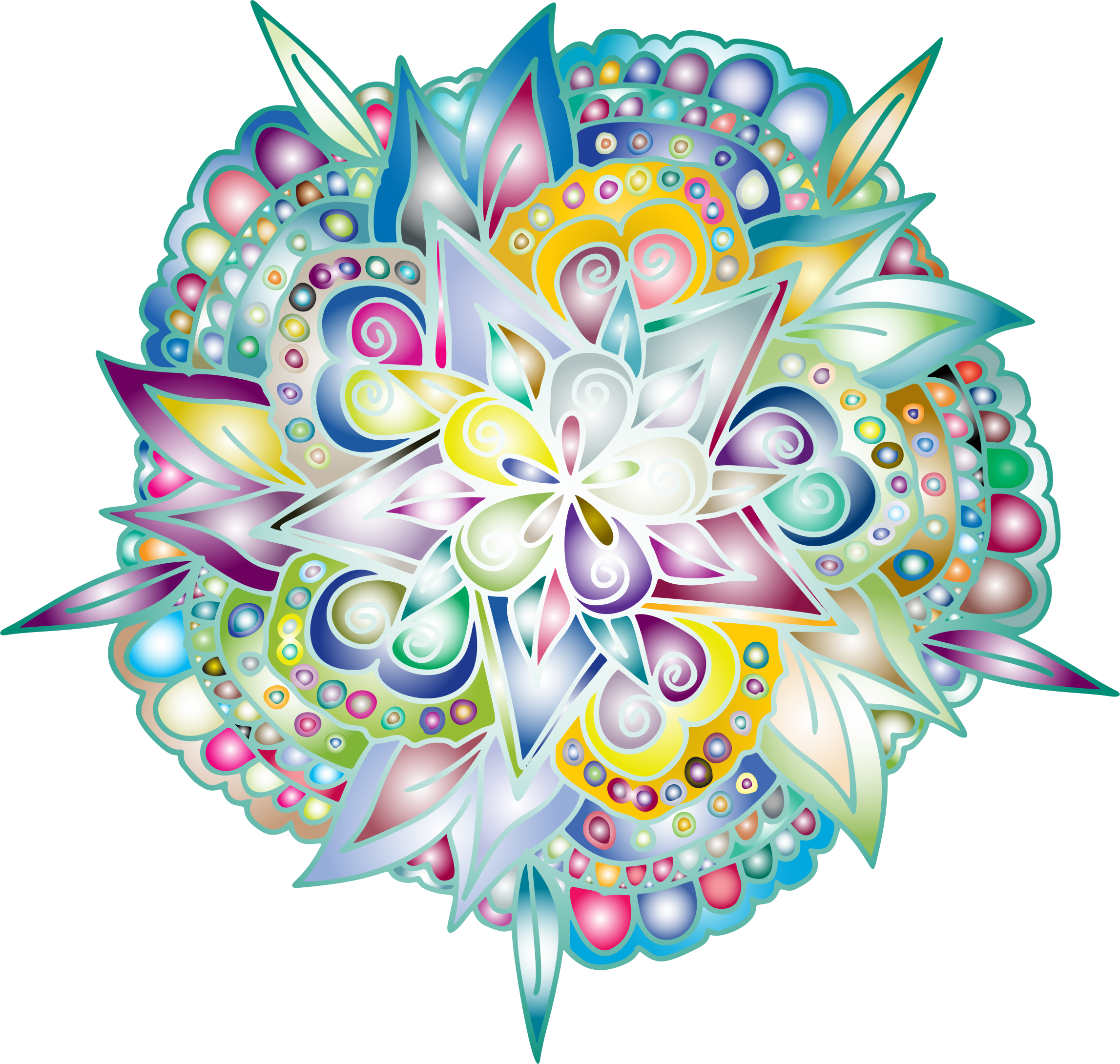Drawn floral line art. Hand clipart flower