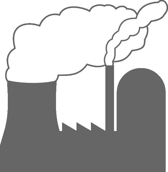 Power plant clip at. Plants clipart line art