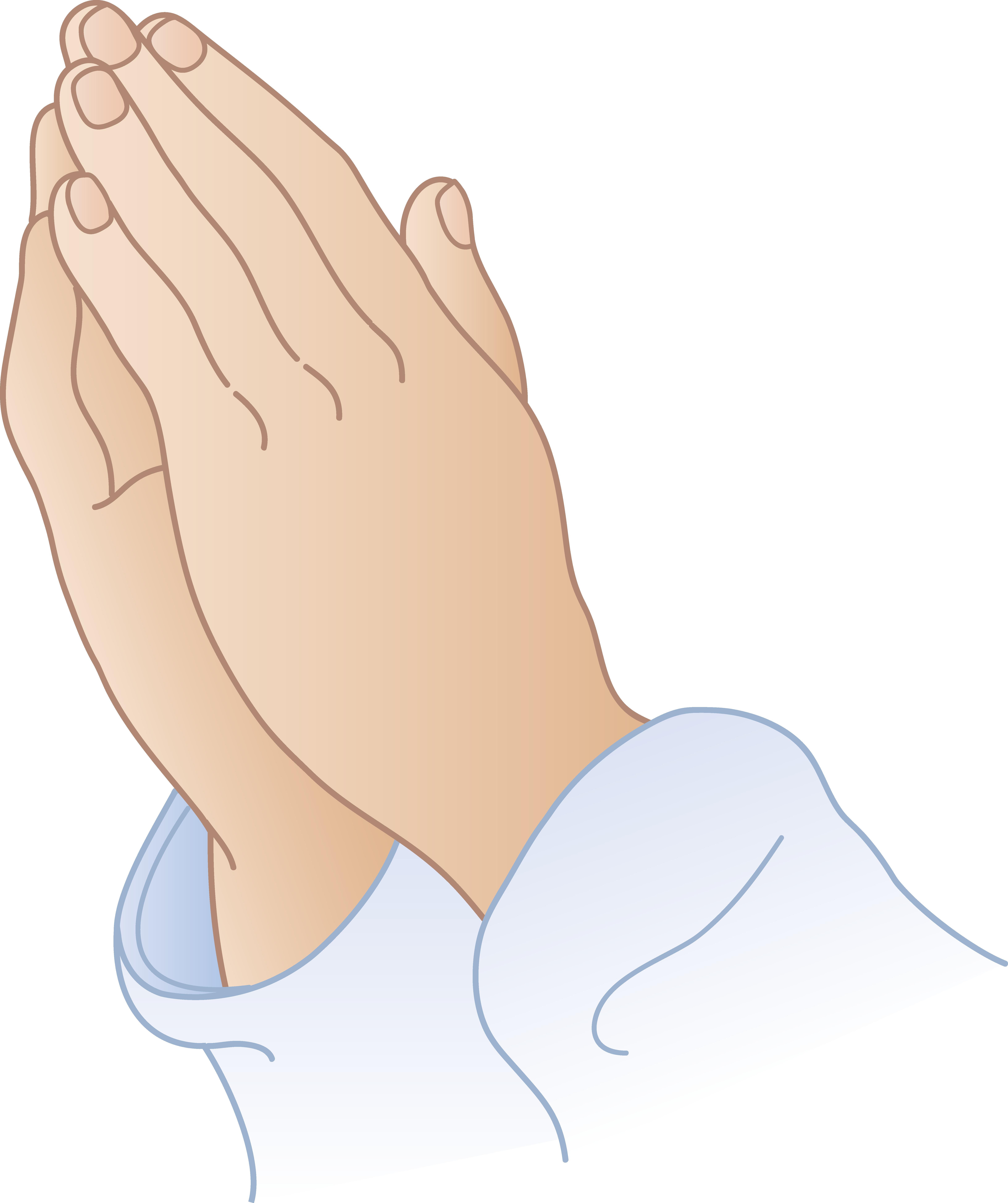 Praying hands clip art. Funeral clipart prayer