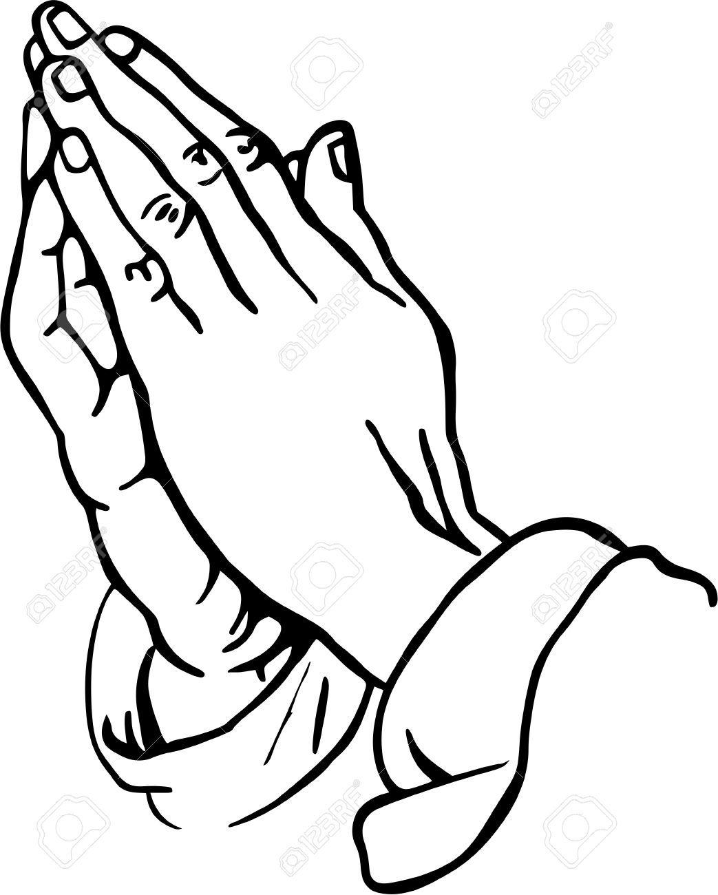 Stock photo craft ideas. Hand clipart prayer