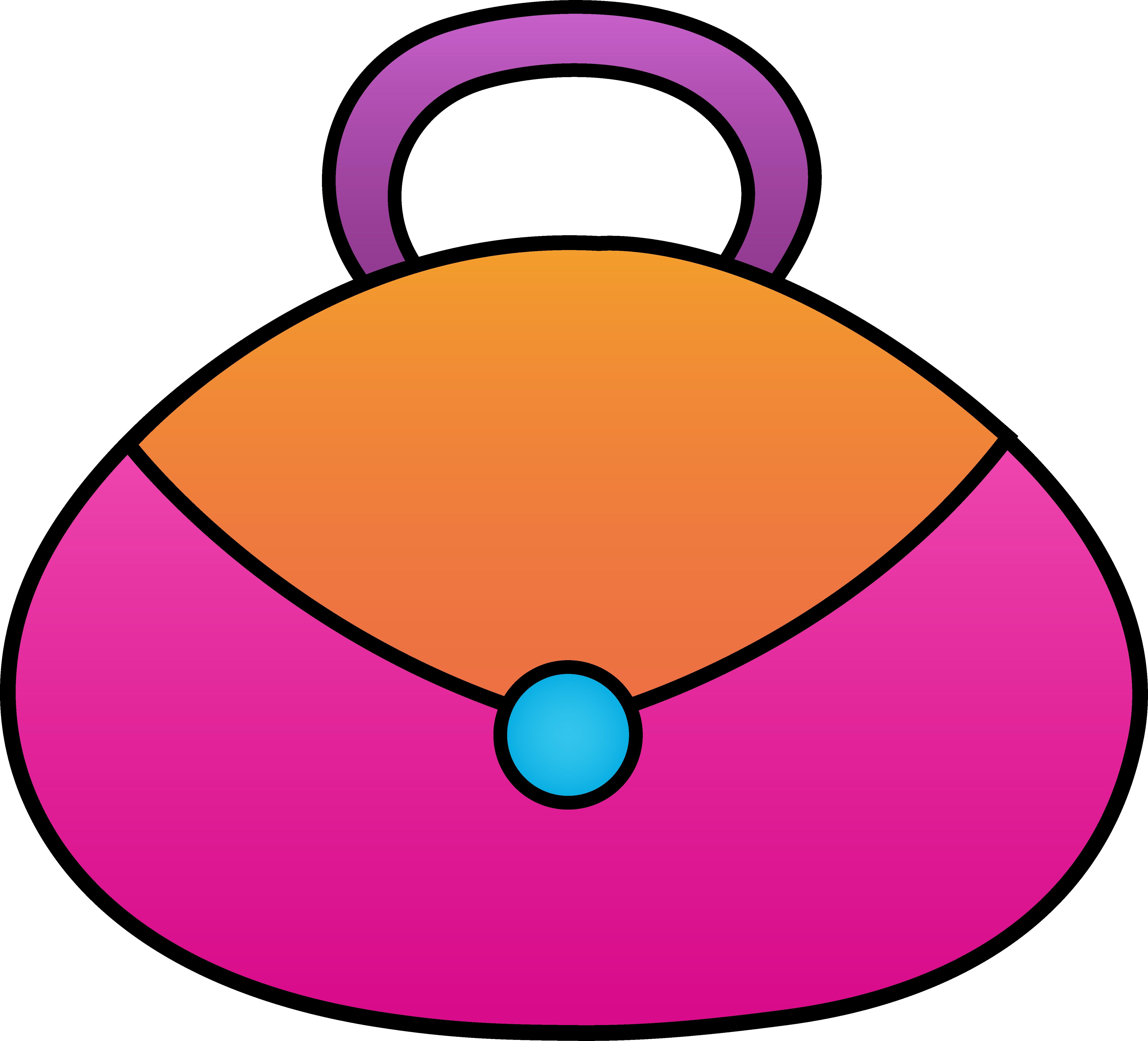 Little pink purse free. Cute clipart grandma