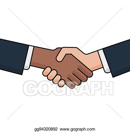 Vector no to concept. Hands clipart racism