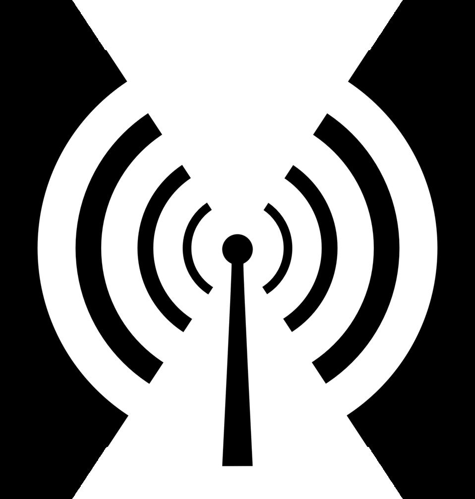 Waves clipart three. Antenna public domain clip