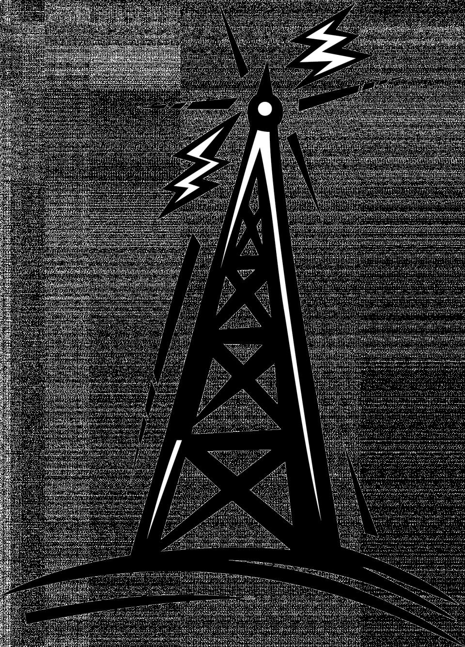 Clipart music stereo. Ham radio group tower