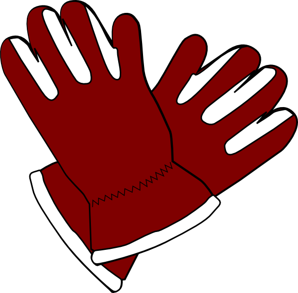 Red gloves clip art. Mittens clipart ski glove