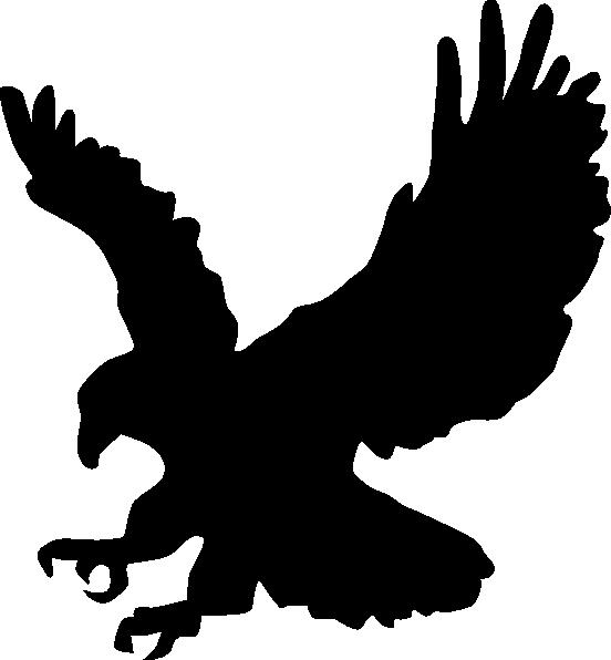 Hand clipart shadow. Eagle black clip art