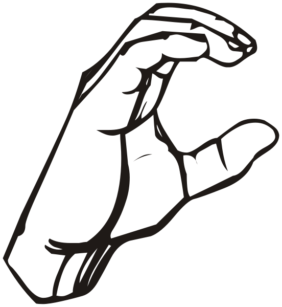 File sign language c. Clipart hand signing