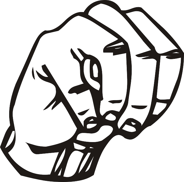 Sign outline speech language. Clipart hand signing