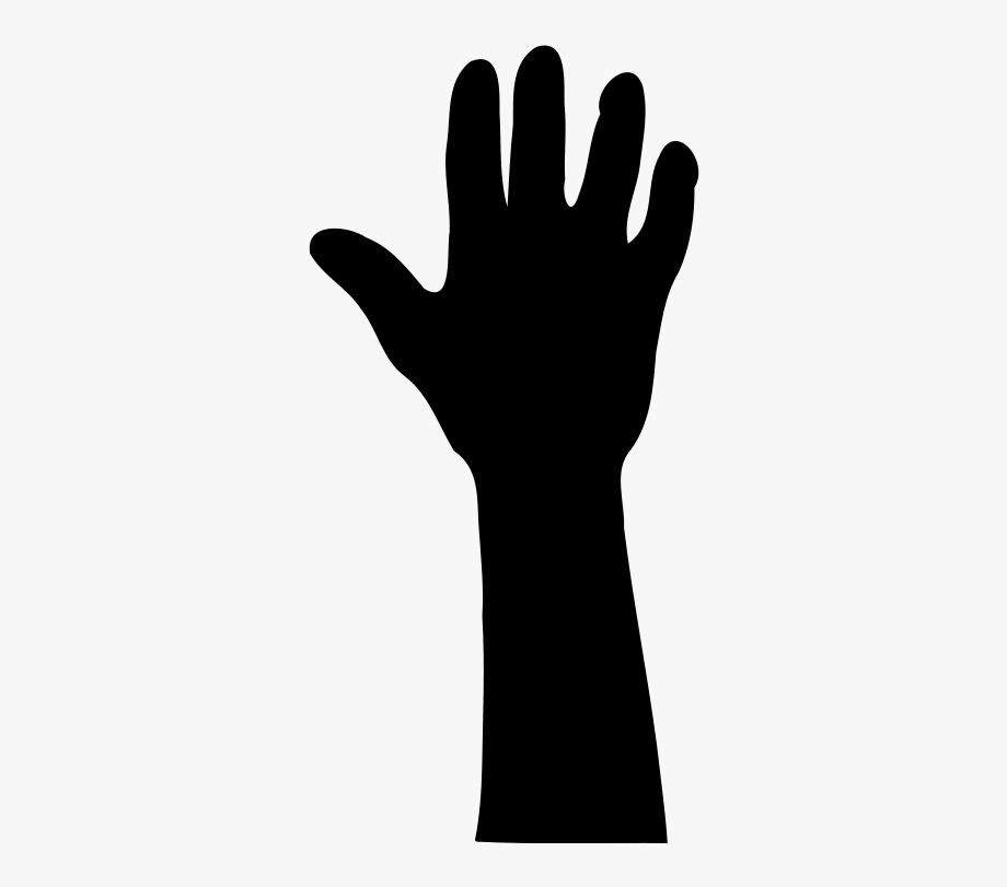 Fingers clipart silhouette. Hands up at clip