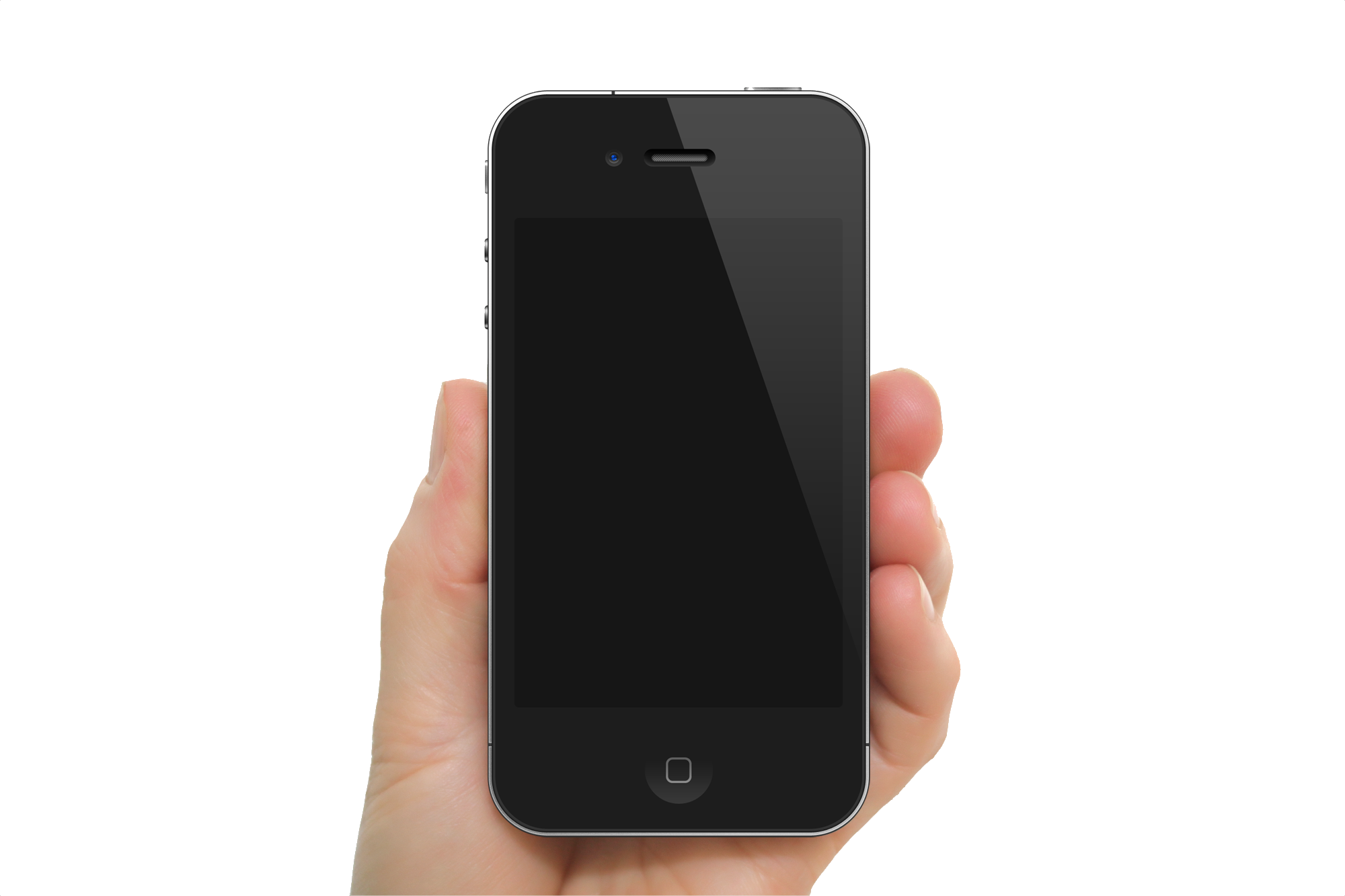 Hand holding three isolated. Hands clipart smartphone