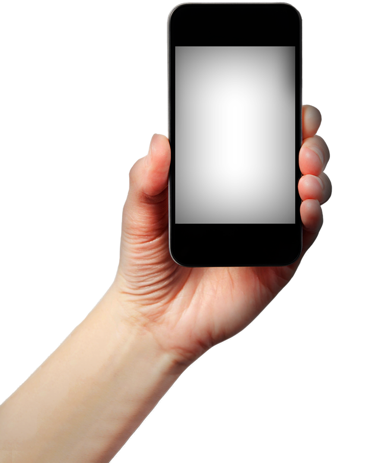 In hand png image. Hands clipart smartphone
