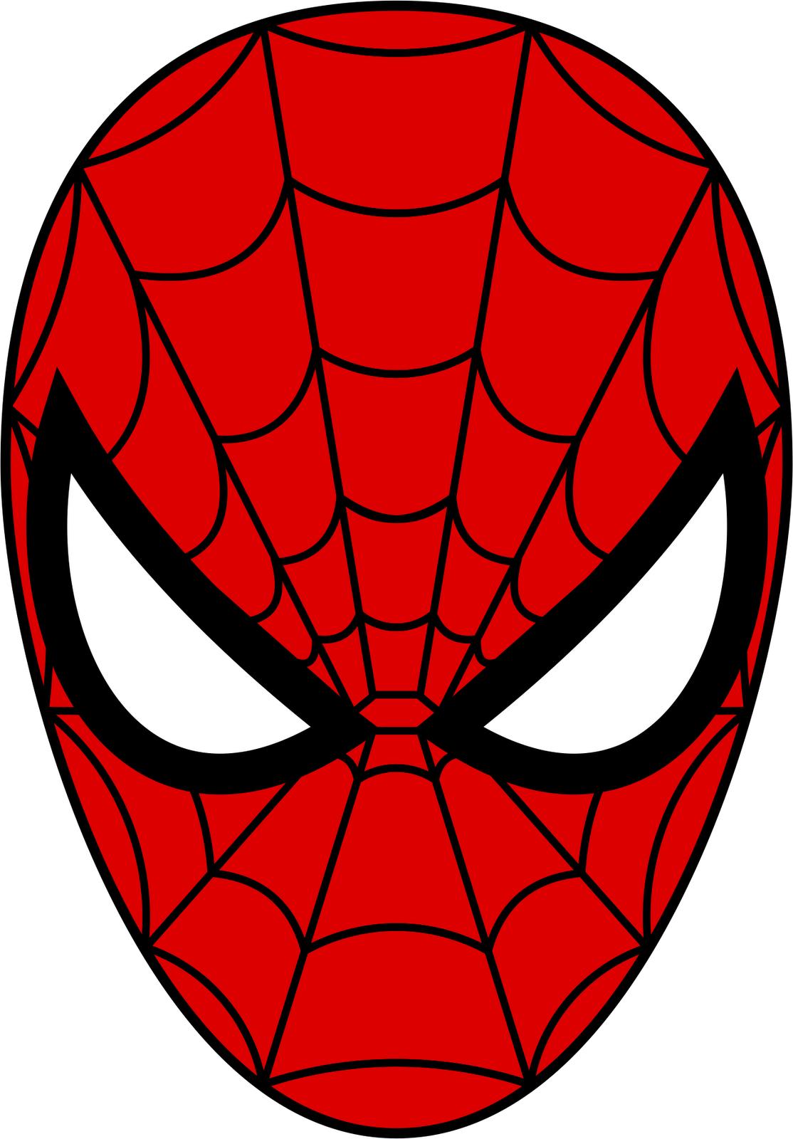 Spider man mask from. Logo clipart spiderman