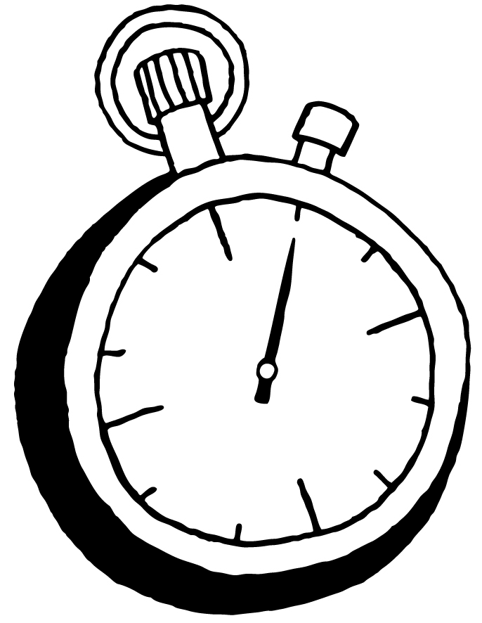See clipart vintage. Stop watch drawing at