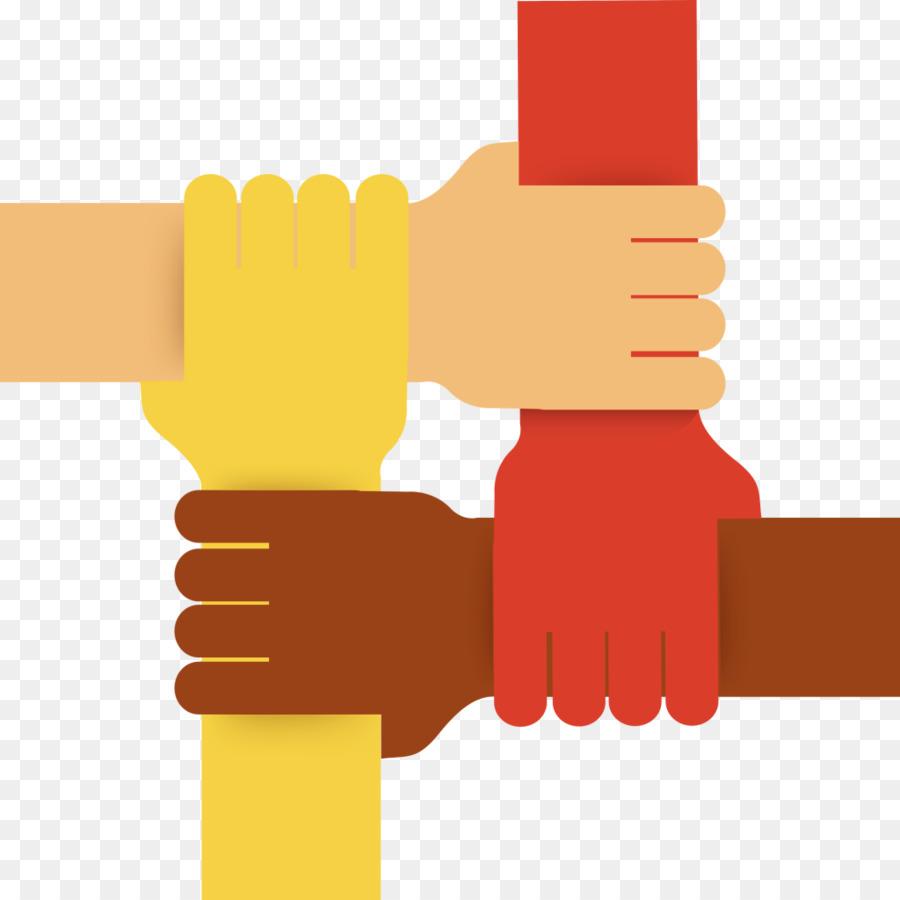 Hand clipart team. Cartoon teamwork yellow transparent